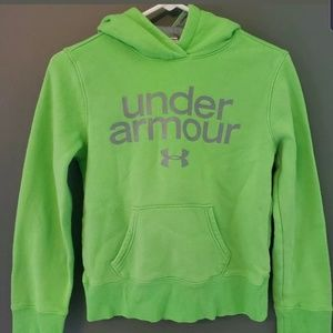 Under Amour Youth Sized Large Neon Green Hoodie